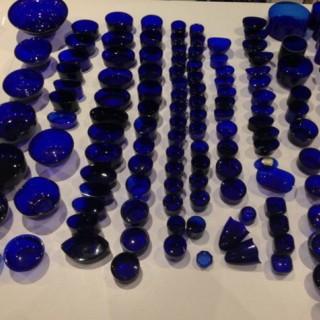 Antique Glass Blue liners.