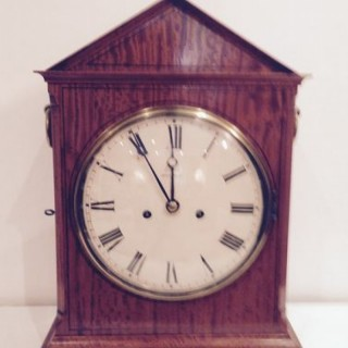 Satinwood Bracket Clock.