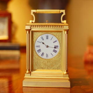 Large quarter striking Carriage clock