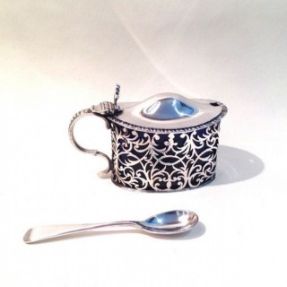 Antiques Silver Mustard Pot.