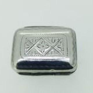 Tiny Antique Silver Vinaigrette.
