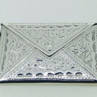 Antique Silver Stamp Box.