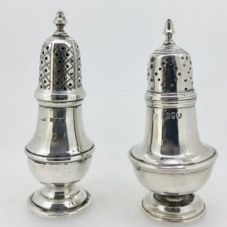 Silver Pepper Casters