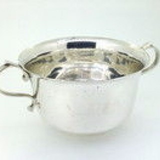 Two handled Silver Bowl.