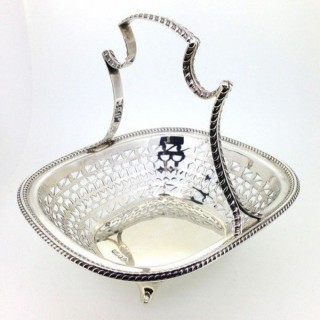 Antique Silver Basket.