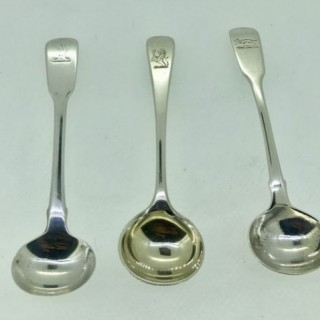 Antique Silver Mustard /Condiment Spoons