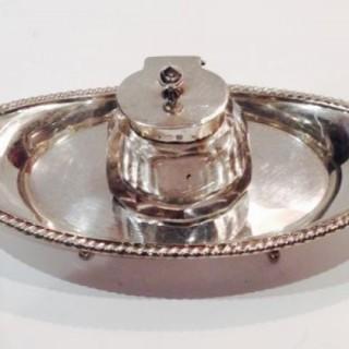 Antique Silver inkstand.