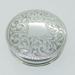 Antique Small Silver Pill Box.