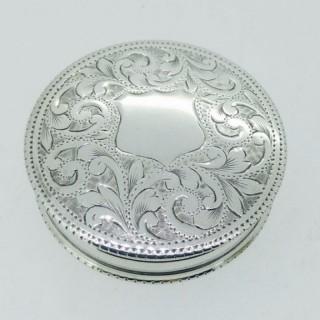 Antique Small Silver Pill Box.
