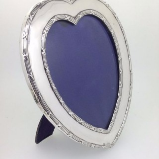 Large Victorian Silver Heart Frame.
