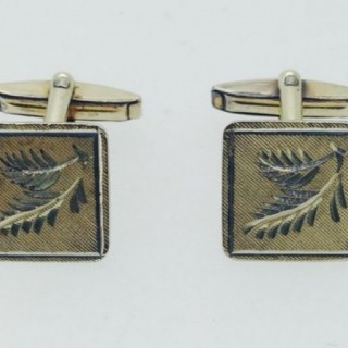 Vintage Silver and Gold Cufflinks.