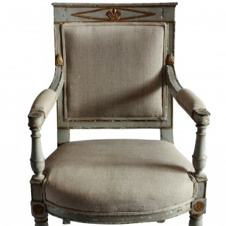 AN EARLY 19TH CENTURY SWEDISH DESK CHAIR
