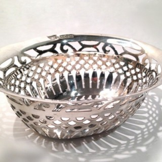 Antique Silver Dish.