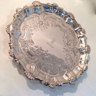 Antique Silver Salver.