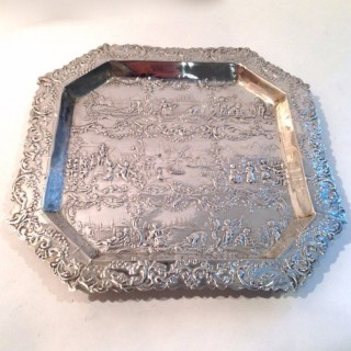Antique Dutch Silver Tray.