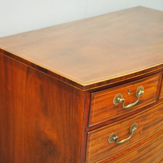 George III Inlaid Mahogany Bow-front Chest of Drawers