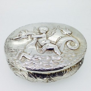 Antique large Silver Box.