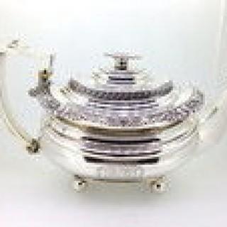Antique Three Piece Silver Teaset.