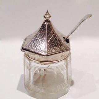 Pagoda Topped Silver Mustard.