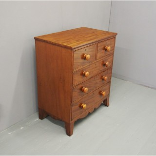 George III Cottage Style Mahogany Chest of Drawers