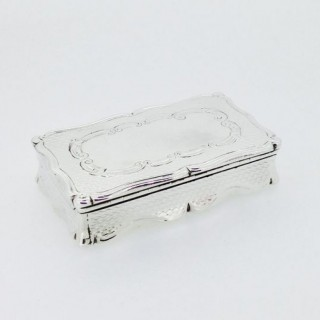 Victorian  Large Silver Snuff Box.