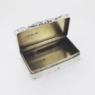 Victorian Silver Snuff Box.