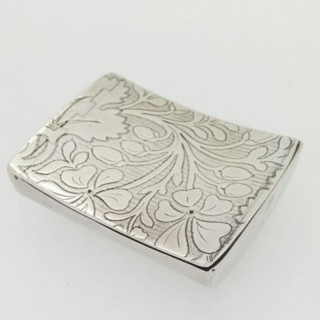 Large Hip Silver Snuff Box.