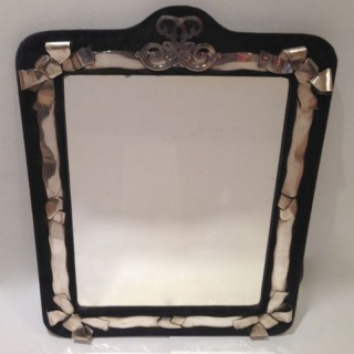Antique Exceptionally  Large Tall Silver Mirror.