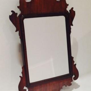Antique Small Fretwork Mirror.