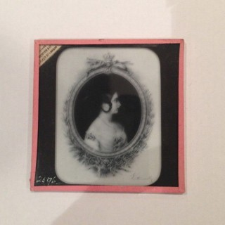 Queen Victoria Magic Lantern Slide.