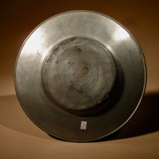 "An Interesting Pewter Type Of ""Cardinal Hat"" Plate, Continental Germany/Switzerland. 18th Century."