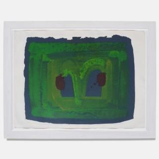 Howard Hodgkin Lotus Silkscreen, 1980