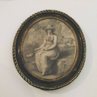 A Girl of Modena Engraving.