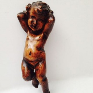 Antique Limewood Cherub.