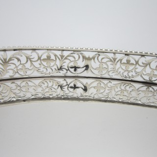 Antique Victorian Sterling silver gallery tray