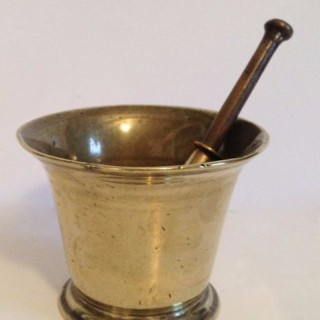 Antique Bronze Pestle and Mortar.