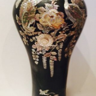 Tall Lacquer Vase/Stick Stand.