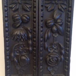 Antique Pair of St Paul Carved Oak Panels.