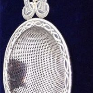 Amy Sandheim  Arts and Crafts Strainer.