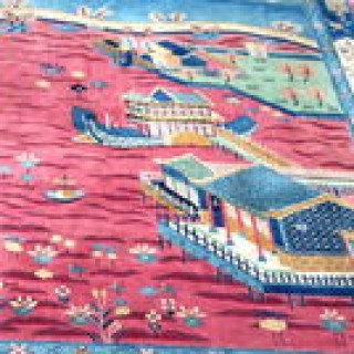 Large Art Deco Chinese Carpet.