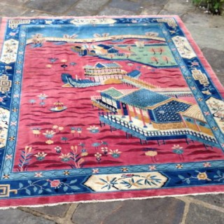 Large Art Deco Chinese Carpet.