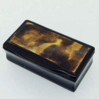 Horn and Tortoiseshell Snuff Box.