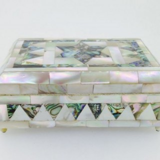 Mother of Pearl Trinket / Needlework Box.