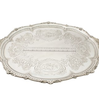 Sterling Silver Tea Tray by Martin Hall & Co - Antique Victorian (1881)