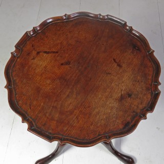 Mid 18th Century Chippendale Period Mahogany Pie Crust Tripod Table