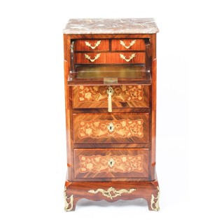 Antique French Ormolu Mounted Marquetry Secretaire Chest c.1860