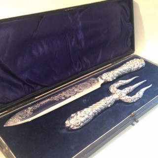 Antique Bread Knife and Fork.