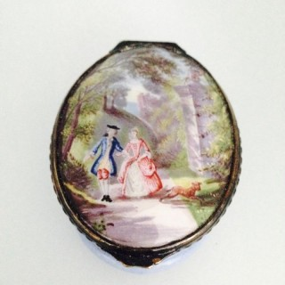 Antique French Enamel Box.