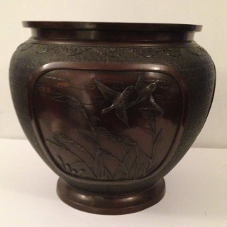 Antique Japanese Bronze Pot