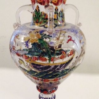Venetian Glass Arts and Crafts Vase.